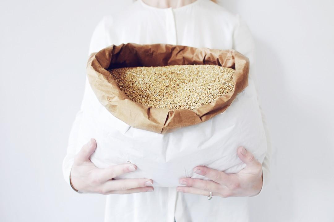 Havergrutten, steel cut oats, een hele grote zak havertjes