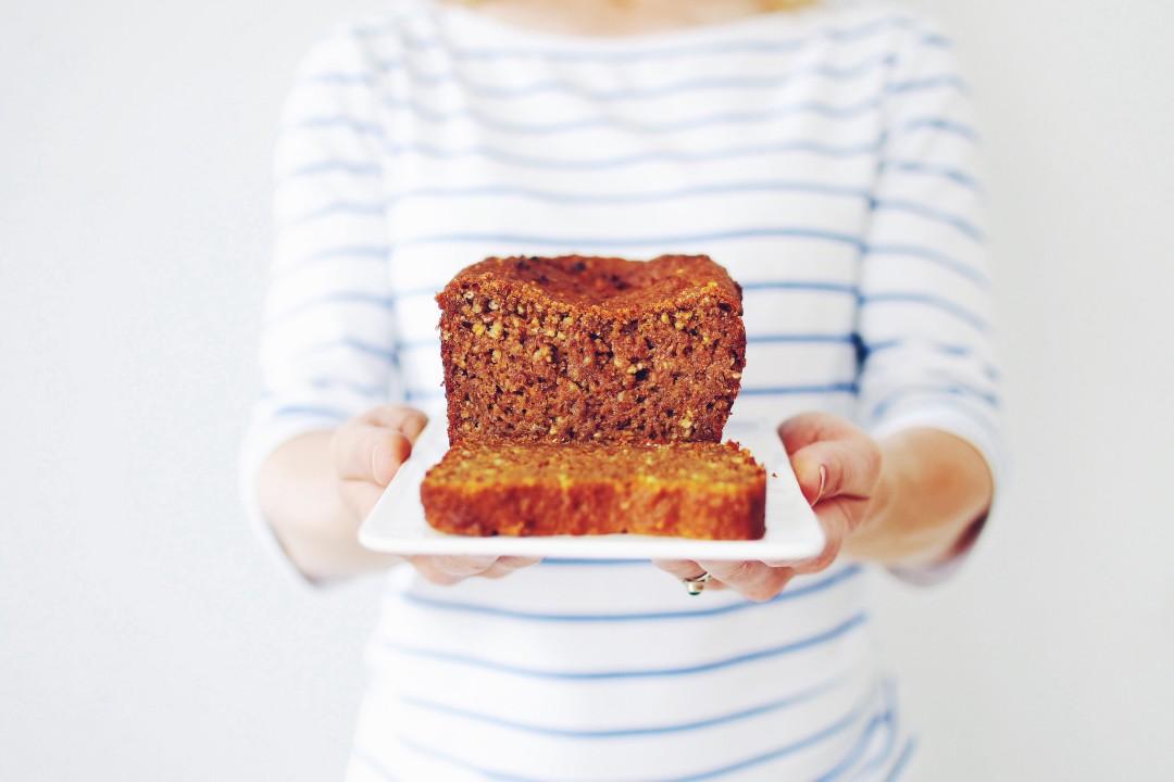 vegan pompoen havergrutten cake