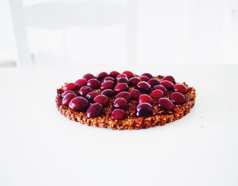 Steel cut oats cherry cake
